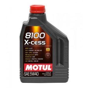 MOTUL 8100 X-CESS SAE 5W40 2L AUTO